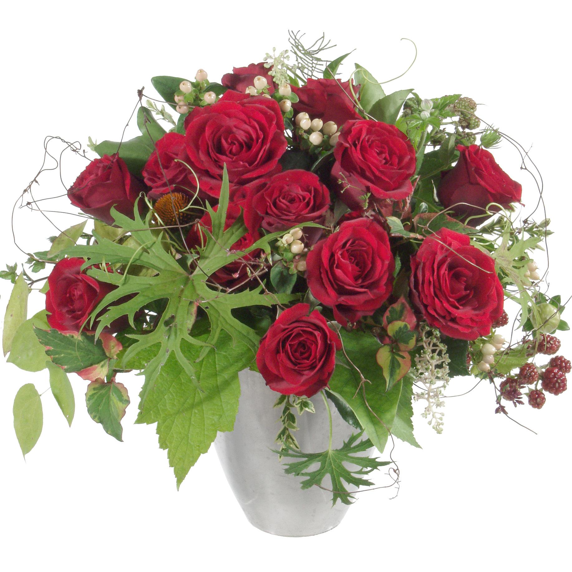 blumenstrauss mit roten rosen. Black Bedroom Furniture Sets. Home Design Ideas